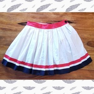 Vintage Pleated Mini Skirt w Attached Bloomers